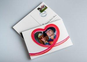 Wedding postcard
